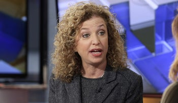 In this photo taken March 21, 2016, Democratic National Committee (DNC) Chair, Rep. Debbie Wasserman Schultz, D-Fla is interviewed in New York.