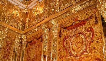 Part of the reconstructed Amber Room.