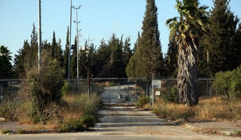 The abandoned Atarot airport, north of Jerusalem, in 2009.