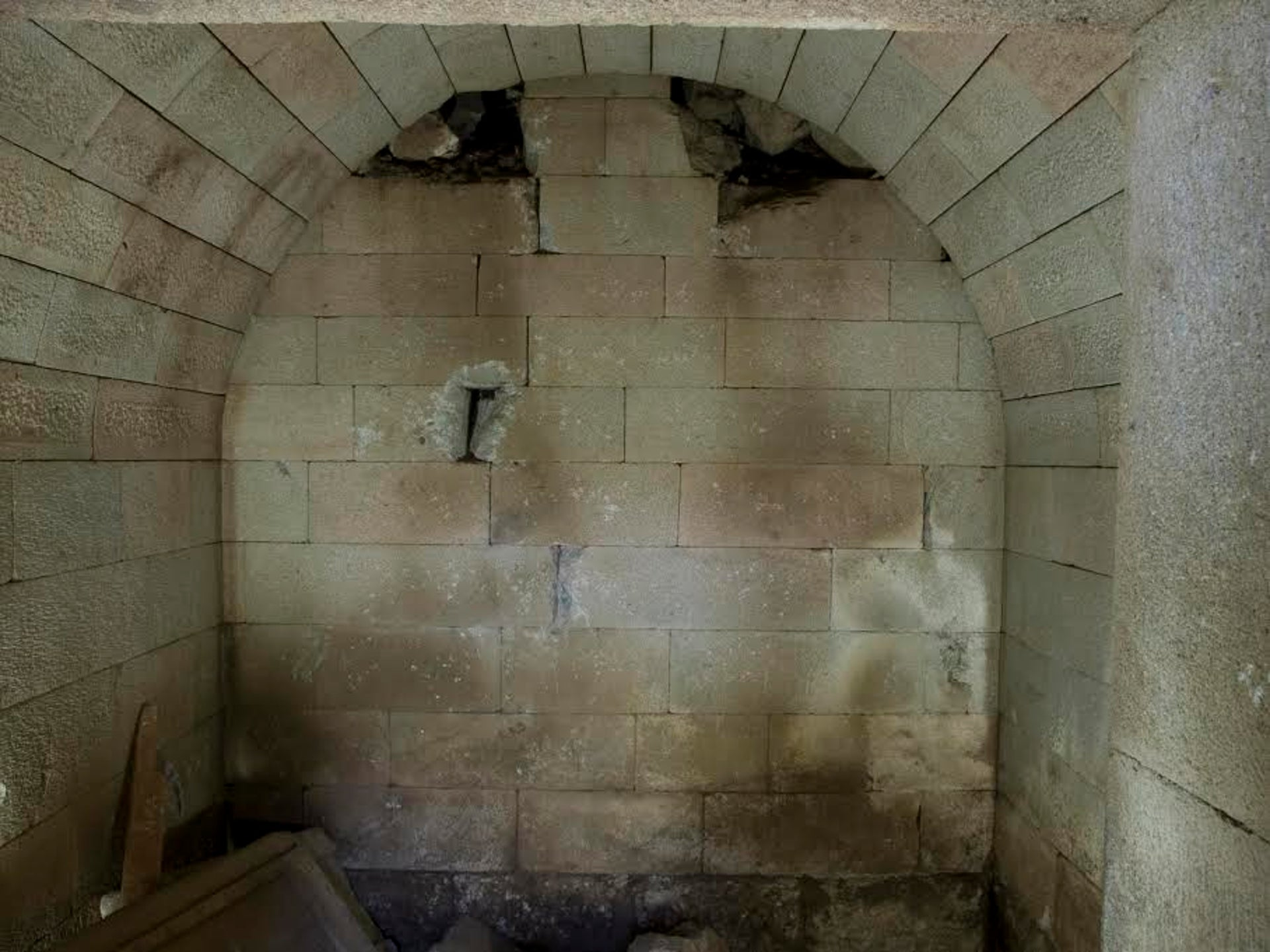 Vaulted tomb that had been equipped with a complex locking mechanism, Pergamon excavation.