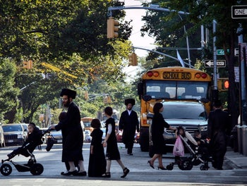 FILE PHOTO: Borough Park, a neighborhood in the Brooklyn borough of New York that is home to many ultra-Orthodox Jewish families. Sept. 20, 2013.