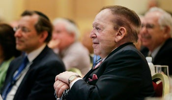 Sheldon Adelson attends a meeting of the Republican Jewish Coalition in Las Vegas in March 2014.