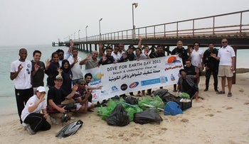 A Kuwait Dive Team event marking Earth Day.
