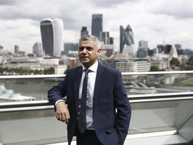 Sadiq Khan, mayor of London, poses for a photograph following a Bloomberg Television interview at City Hall in London, U.K., on Tuesday, June 28, 2016.
