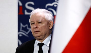 Jaroslaw Kaczynski, leader of ruling party Law and Justice attends a news conference in party headquarters in Warsaw, Poland, June 24, 2016.