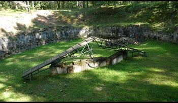 The site of the burning pit at Ponar, Lithuania, during the Holocaust, September 2, 2010.
