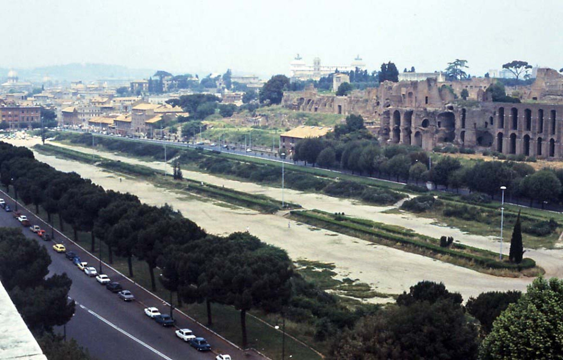 The Circus Maximus in Rome, the biggest chariot racing track in the ancient world, which could accommodate some 150,000 people. The track in Carthage was the second-biggest.