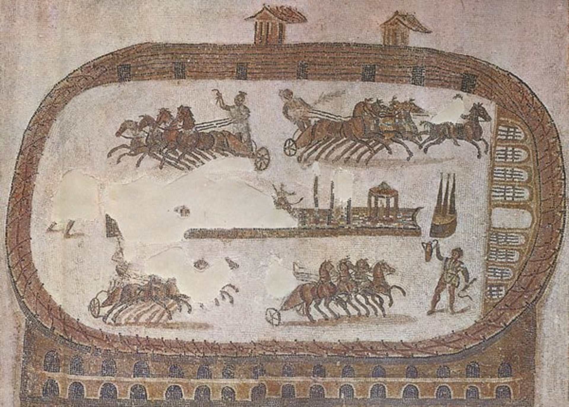 A mosaic showing the Carthage Circus.
