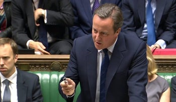 A video grab from footage broadcast by the U.K.'s Parliamentary Recording Unit shows British Prime Minister David Cameron as he speaks in the House of Commons in London, U.K., June 29, 2016.