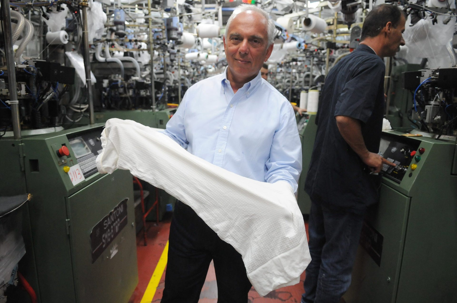 Delta Galil owner Isaac Dabah at a Delta plant in Carmiel, northern Israel.