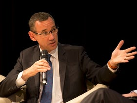 Israel's ambassador to the U.K. Mark Regev at Haaretz's Israel Conference in London, Sunday, July 3, 2016.