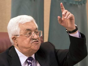 PA President Mahmoud Abbas during a visit to Cairo in May, 2016.