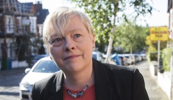 Angela Eagle, former business spokeswoman for the U.K. Labour Party, leaves her home in London, July 4, 2016.
