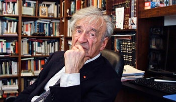 Elie Wiesel is photographed in his office in New York, Sept. 12, 2012.