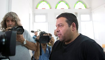 Israel Defense Forces medic Ofer Ohana, in the courtroom where the trial of Elor Azaria, accused of shooting a wounded Palestinian to death in March, is being held, on July 5, 2016.