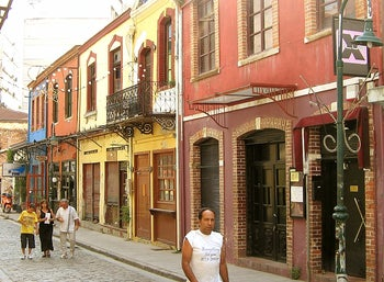 A street in what used to be the Jewish quarter in Thessaloniki, Greece.