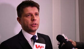 Ryszard Petru, who is not Jewish, was hit with an anti-Semitic death threat.