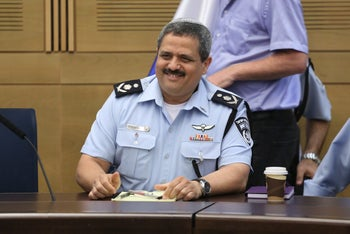 Police Commissioner Roni Alsheich during a session of the Knesset Interior and Environment Committee.