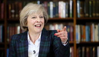 British Interior Minister Theresa May addresses a press conference in central London on June 30, 2016.