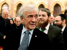 The late Eli Wiesel shown in Budapest in 2009.