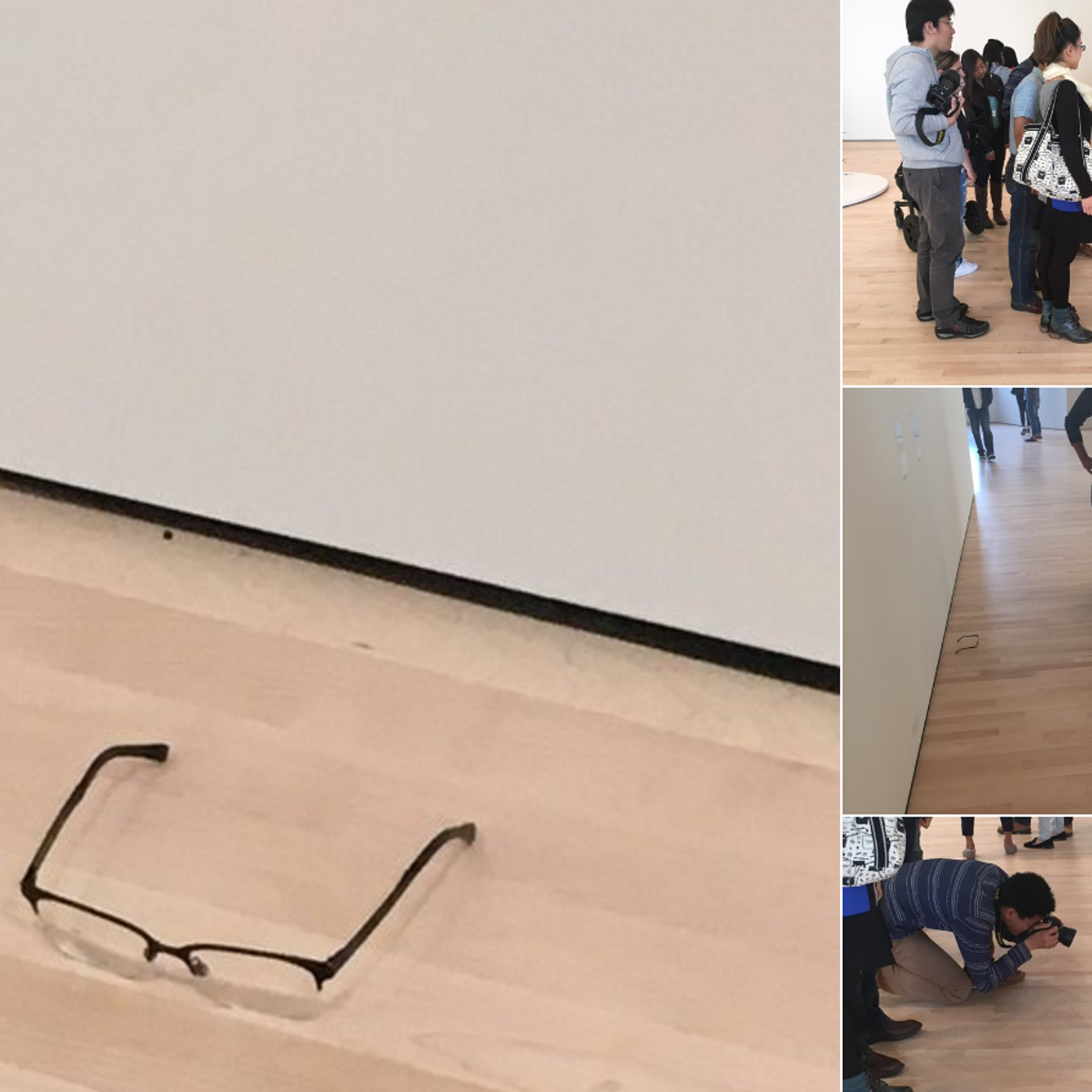 The 'glasses in the museum prank.'