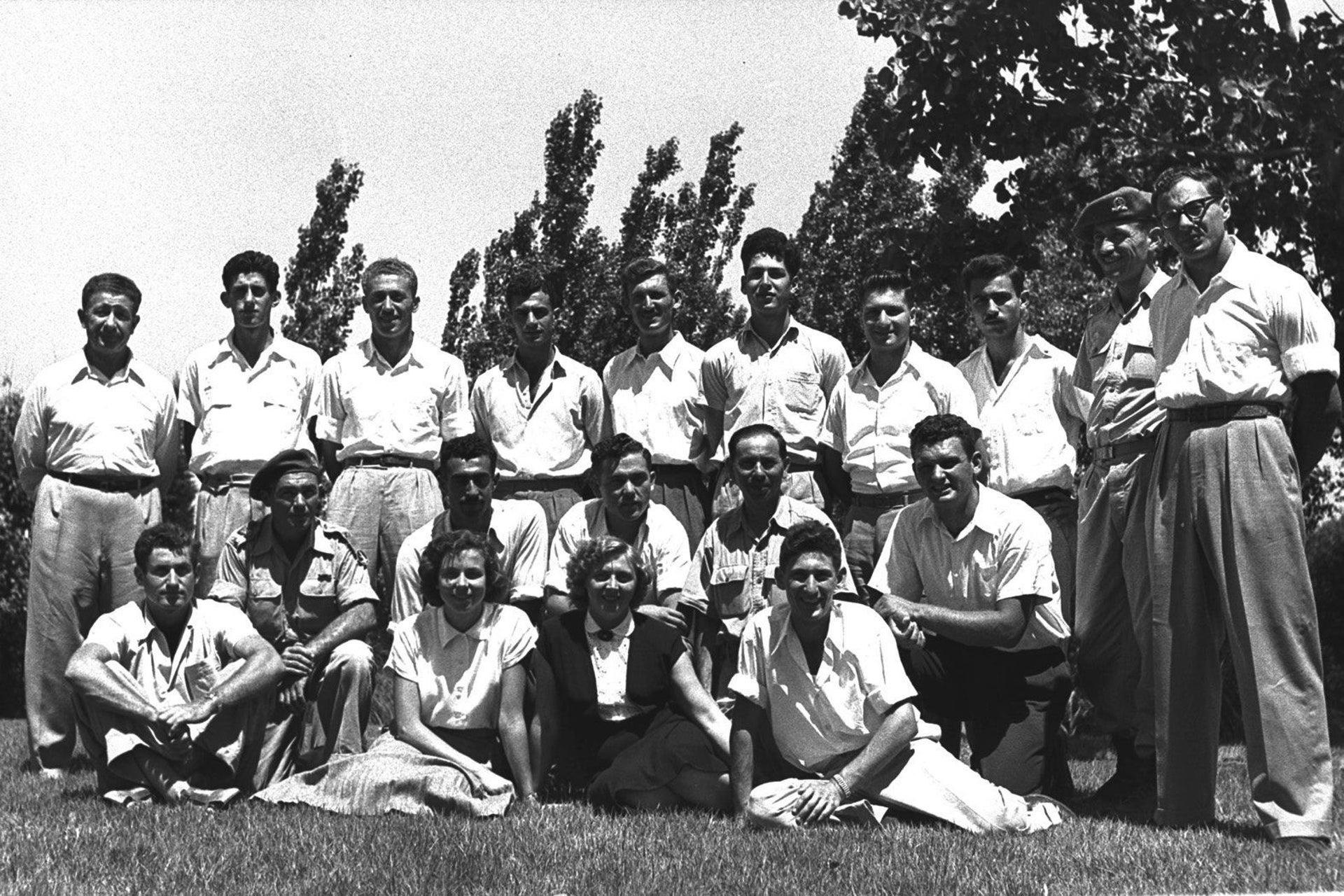 Members of Israeli Olympic team in Helsinki, 1952.