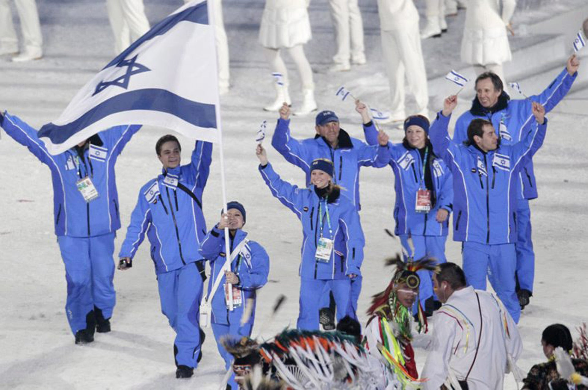 Members of Israeli Olympic team in Vancouver, 2010.