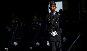 Illustration: A South African honor guard.