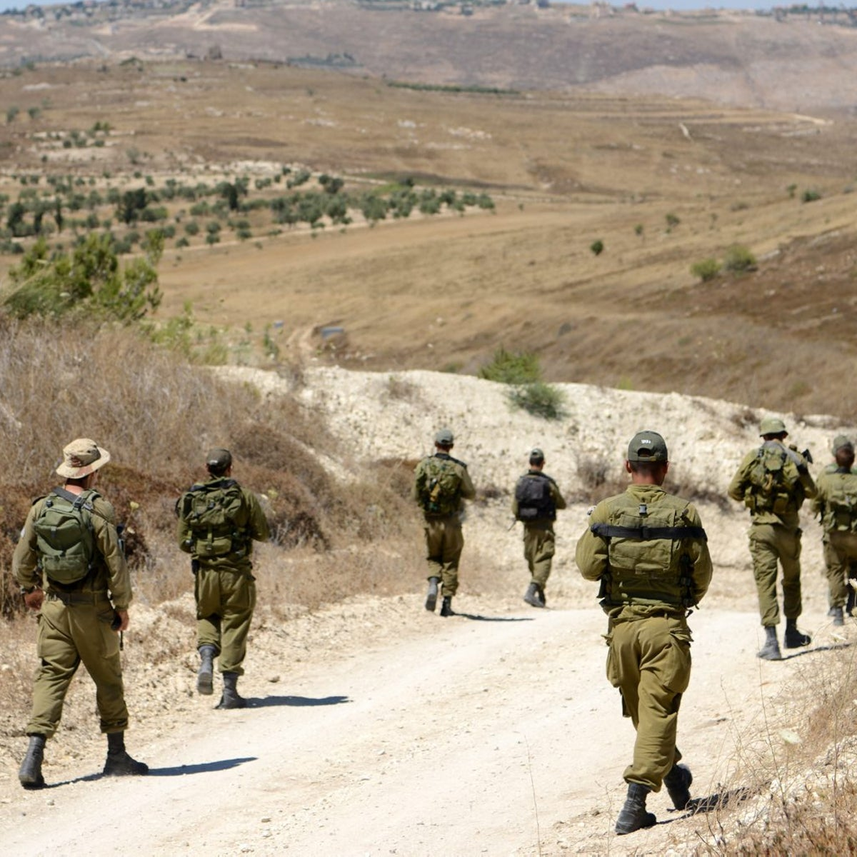 Israeli soldiers near the border of Israel and Lebanon, July 7, 2016.
