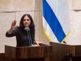 Justice Minister Ayelet Shaked in Knesset, June 27, 2016.