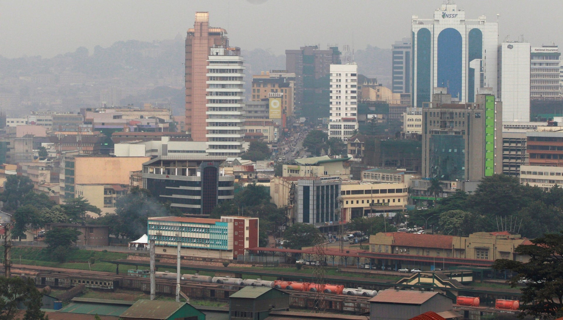 The capital of Uganda, Kampala, in 2015.