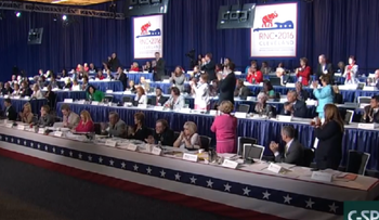 The GOP  Platform Committee voting on the party platform's language on Israel.