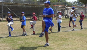 Nate Fish, IAB head national team coach holds a clinic in Modi'in. August 2015.