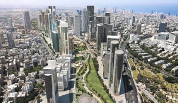 A rendering of the planned park over Ayalon.