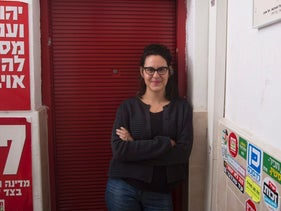 Tair Kaminer, who refused to serve in the Israeli army, January 2016.