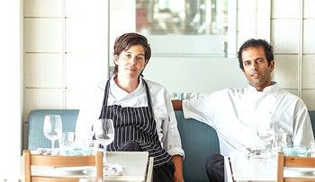 Inbar Shapira and Lior Raphael, owners of Leviathan restaurant in Eilat.