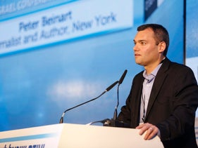 Peter Beinart addresses the Israel Conference for Peace, November 12, 2015.