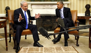 Obama meets with Netanyahu in the Oval office of the White House, Washington D.C., November 9, 2015.