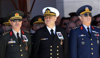 In this photo, Turkish Air Force General Akin Ozturk is seen on the far right.
