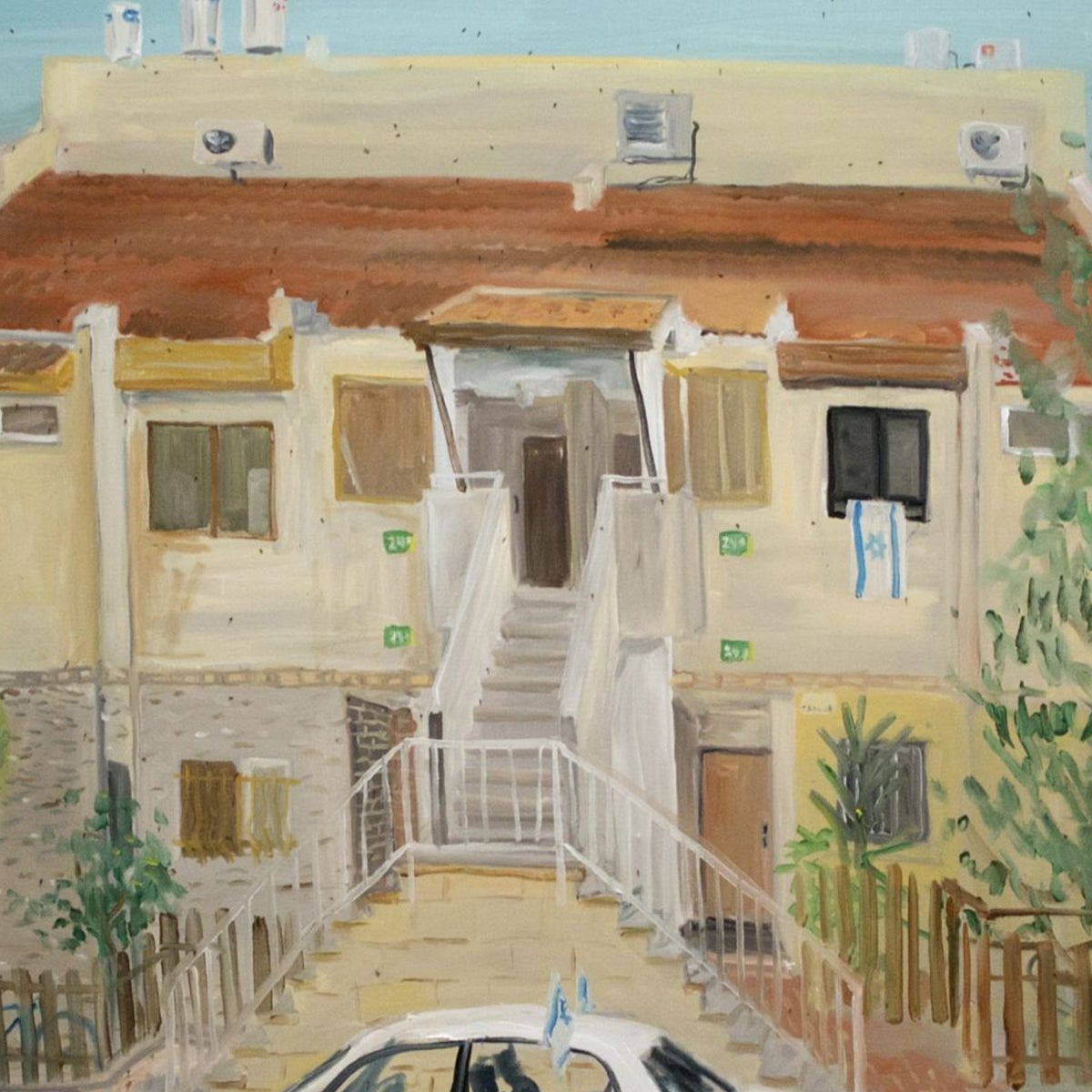 'Untitled' (2016) by Ratgar Kjartansson, one of 10 paintings of settlement homes in the occupied territories.