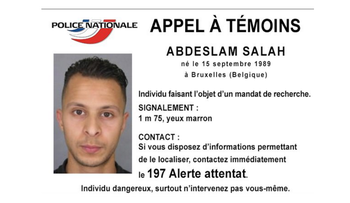 A photo of Paris attack suspect Salah Abdeslam, released by the French police.
