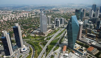 Istanbul's Levent financial and business district.