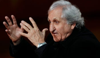 Israeli author A. B. Yehoshua, during a trip to Italy in 2012.