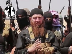 A still from an undated video posted on a social media account frequently used for communications by ISIS, June 28, 2014.
