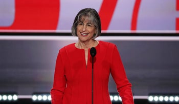 Former Gov. Linda Lingle (R-HI) speaks during the first day of the Republican National Convention in Cleveland, Ohio, U.S., July 18, 2016.