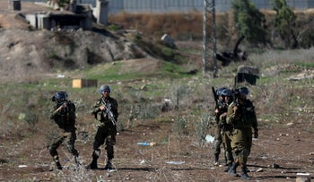 Israeli security forces clash with Palestinian protesters in the city of Tulkarm, in the West Bank. November 12, 2015.