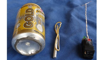 The photo of bomb that purportedly brought down the Russian plane in Sinai.