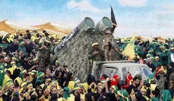 Lebanon's Hezbollah members and supporters attend the funeral of three fighters who were killed while fighting alongside the Syrian army, October 27, 2015.