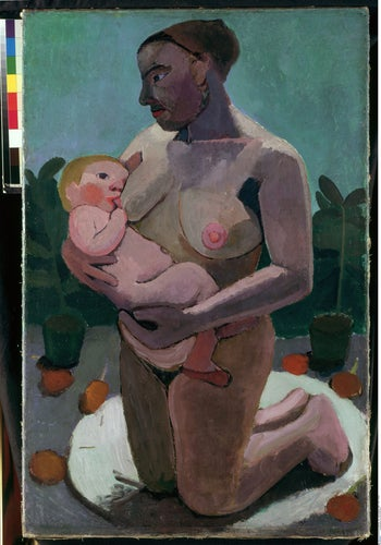 'Kneeling Mother with Child at Her Breast,' by Modersohn-Becker (1906).