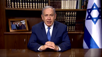 Prime Minister Benjamin Netanyahu in a video address to the LGBT community during Jerusalem's gay pride parade.